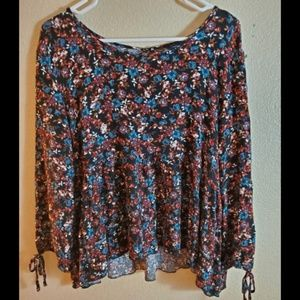 American Eagle Outfitters Floral Peasant Blouse